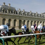 Horse racing at the Chantilly Racecourse