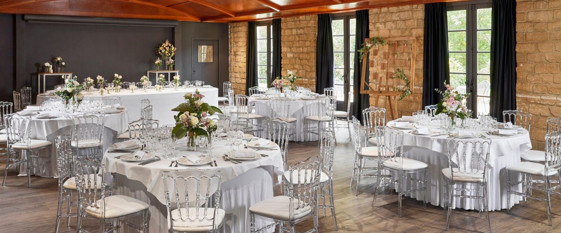 Garden Wedding Dining room